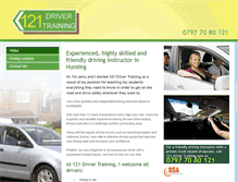 Tablet Preview of 121drivertraining.co.uk